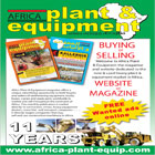 Africa Plant & Equipment magazine offers a unique advertising opportunity to both buyers and sellers of earthmoving equipment, trucks, buses, cranes and spare parts worldwide to market and sell throughout the continent of Africa.
