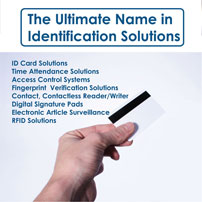 Identity cards, Digital photo ID Card Management systems, Card personalization systems, Time and attendance systems, Identification and verification systems, Visitor management systems, Loyalty applications, Access control systems, etc.